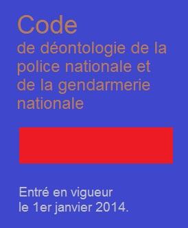 Code De Deontologie De La Police Nationale Et De La Gendarmerie